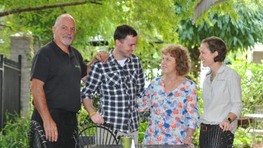 The Haslam family (from left) Lou, Dan, Lucy and Alyce.
