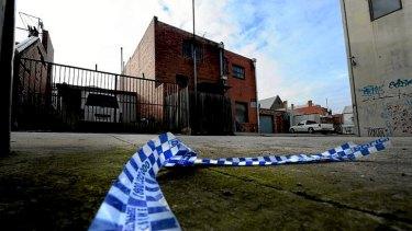 The scene near Hope St, Brunswick, where Jill Meagher's handbag was found.