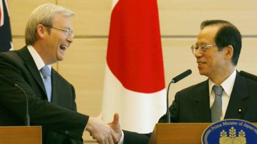 "Kevin Rudd has ""agreed to disagree"" with Tokyo on the issue."