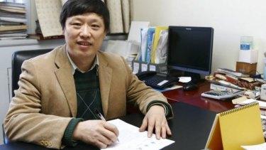 """Editor of """"Global Times"""", Hu Xijin, in 2010."""