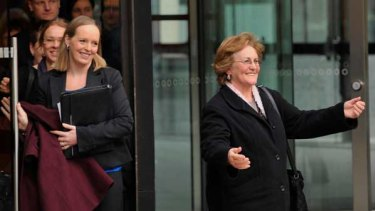 Heather Osland outside the High Court in Melbourne.
