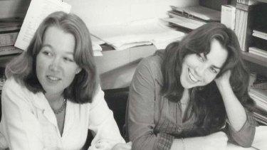 Unapologetic story ... <em>Puberty Blues</em> co-authors Gabrielle Carey and Kathy Lette, aged 19.
