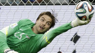 Penalty hero: Tim Krul came off the bench to save two penalties.