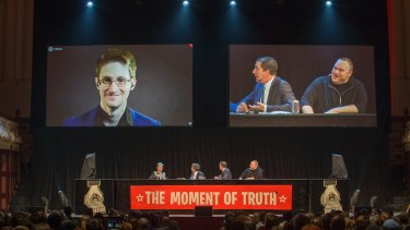 <i>Wild</I> is more than merely 'inspired' by the likes of Edward Snowden (left).