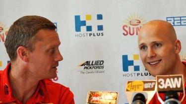 Gary Ablett with Gold Coast coach Guy McKenna.