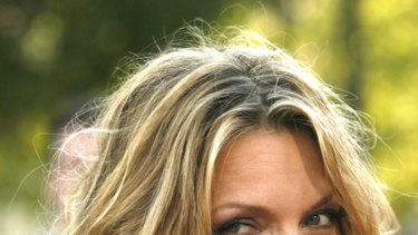 Uphill battle ... at 50, Michelle Pfeiffer struggles to retain her youthful beauty.
