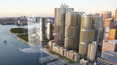 Barangaroo South commercial towers - artist impression.