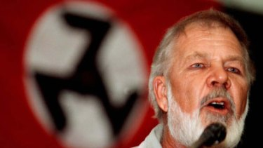 Firm believer in white supremacy and racial segregation ... Eugene Terre'Blanche addresses an AWB rally in Pretoria in 1999.