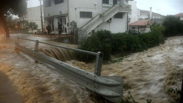 Picture of a flooded street taken in Uras, central Sardinia, after a Mediterranean cyclone triggered flash floods.
