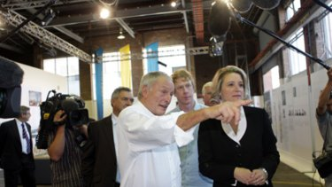 Richard Rogers, international designer and architect, with the Premier, Kristina Keneally yesterday.