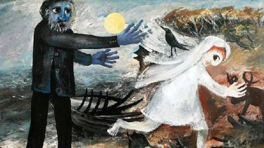 Detail from Bride Running Away, now the highest-selling Arthur Boyd work.
