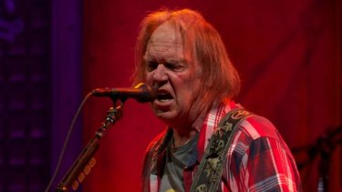Neil Young performs in Melbourne earlier this month.