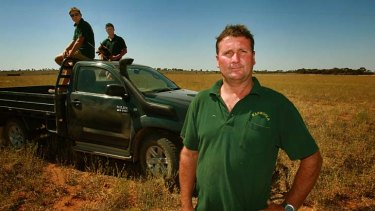 Pyramid Hill farmer Peter Tuohey and his sons, Nathan and Daniel, on the land.