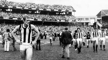 Injury gamble: There was disappointment for Magpie Peter Moore in 1981.