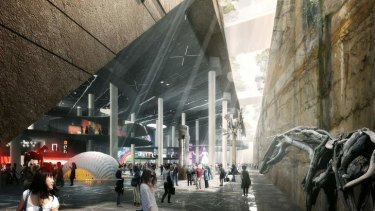 Earlier designs for an underground cultural centre at Barangaroo.