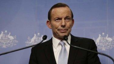 """Ye olde Prime Minister of Terra Australis, Tony Abbott, prefers """"programme""""."""