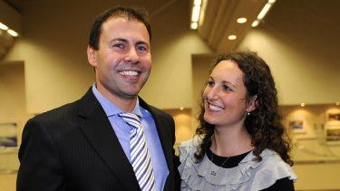 Preselected: Joshua Frydenberg, with his partner Amie Saunders.
