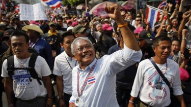 No compromise: Protest leader Suthep Thaugsuban has rejected the government's election on Sunday.