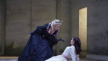 The Queen of the Night's (Milica Ilic) show stopping scene with daughter Pamina (Kajta Webb).