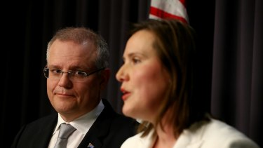 Treasurer Scott Morrison and Assistant Tresaurer Kelly O'Dwyer have thrown tax cuts at small business ahead of the federal election.