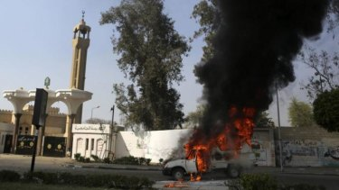 One student was killed in clashes with police at the Islamic Al-Azhar University in Cairo.