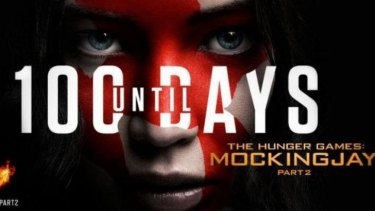The offending poster for <i>The Hunger Games - Mockingjay: Part Two</i>.