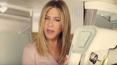 Footage for the new ad is actually taken from a commercial Aniston did with the airline last year.