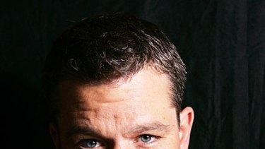 Family man ... Matt Damon.
