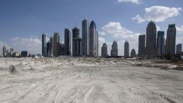A construction site in Dubai.