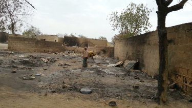 Burned ruins in Baga, Nigeria after an attack in April 2013 ... Hundreds of bodies were strewn in the bush in Nigeria on Friday after Boko Haram carried out its 'deadliest massacre' so far, according to Amnesty International.