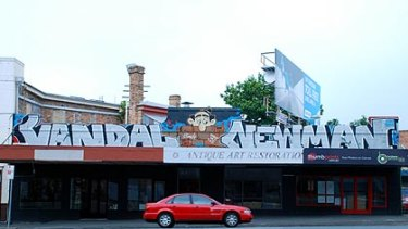 The artwork in Woolloongabba that Brisbane City Council would rather was removed.