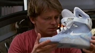 Michael J Fox with the original show in Back to the Future II.