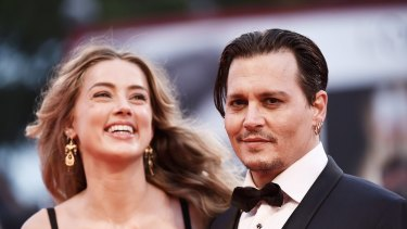 Getting divorced: Johnny Depp and Amber Heard.
