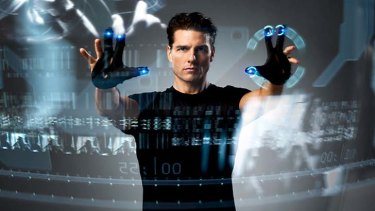 Striking similarities ... Tom Cruise uses gesture interface in <em>Minority Report</em>.