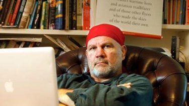Wordsmith ... author and columnist Peter Fitzsimons in his place of work.