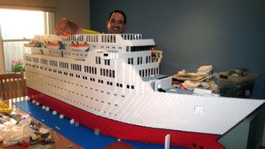 Lego fan Ryan McNaught with his six-month labour of love.