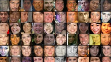 Some of the faces listed on the site.