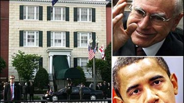 Blair House ... where John Howard is bunking down in preference to Barack Obama.