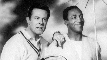 Robert Culp, left, and Bill Cosby starring as a team of American agents in the 1960's television series, I Spy.