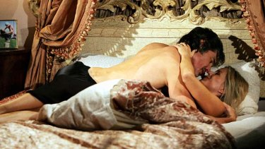 Love story ... Brooke Logan Forrester(Katherine Kelly Lang) and Ridge Forrester (Ronn Moss).