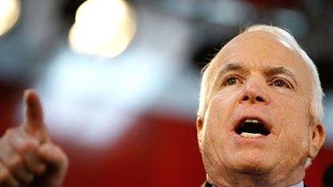 John McCain at a rally in Pennsylvania on October 20.