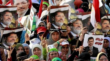 Egyptian supporters of ousted president Mohamed Mursi.