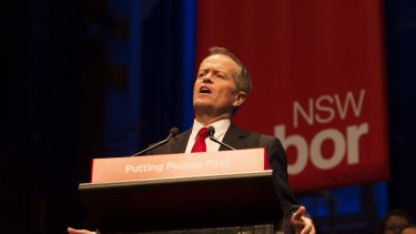 Bill Shorten at the unveiling of Labor's new policy on negative gearing.