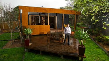 Award-winning designer Sven Maxa, at his Nunawading home, which was designed using energy-efficient measures.