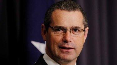 Gaffe ... Senator Stephen Conroy