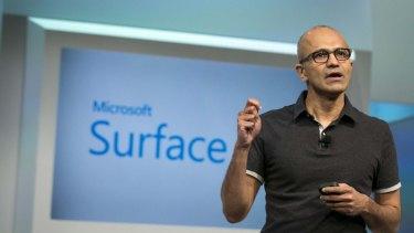 Determined: Microsoft CEO Satya Nadella.