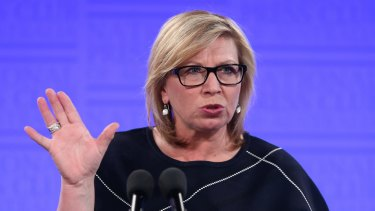 Rosie Batty, 2015 Australian of the Year, addresses the National Press Club of Australia in June.