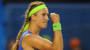 Victorious ... Victoria Azarenka of Belarus wins the Australian Women's Open.