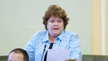 Former Parliamentary Crime and Misconduct Committee chairwoman Liz Cunningham.