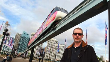Big fan: Michael Sweeney, one of the first to get on the monorail, will also hop on its last ride.